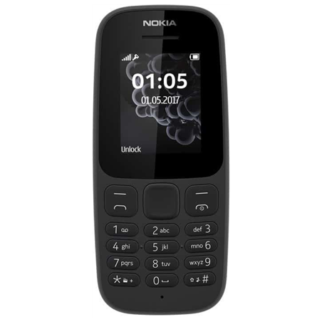 Nokia 105 (2017) Black, 1.4...