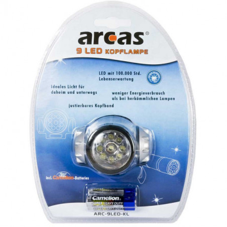 Arcas Headlight ARC9 9 LED,...